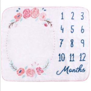 •Floral Milestone Plush Blanket